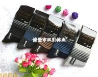 2013 NEW arrival best quality men wool socks 20pcs=10pairs warm  in tube Stripe male socks free shipping