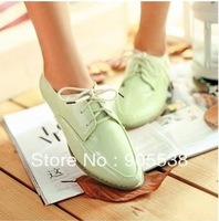 size:46 lovers shoes fashion trend of the fashion leather low-top japanned leather shoes casual shoes 35-41 42 43 44 45 46