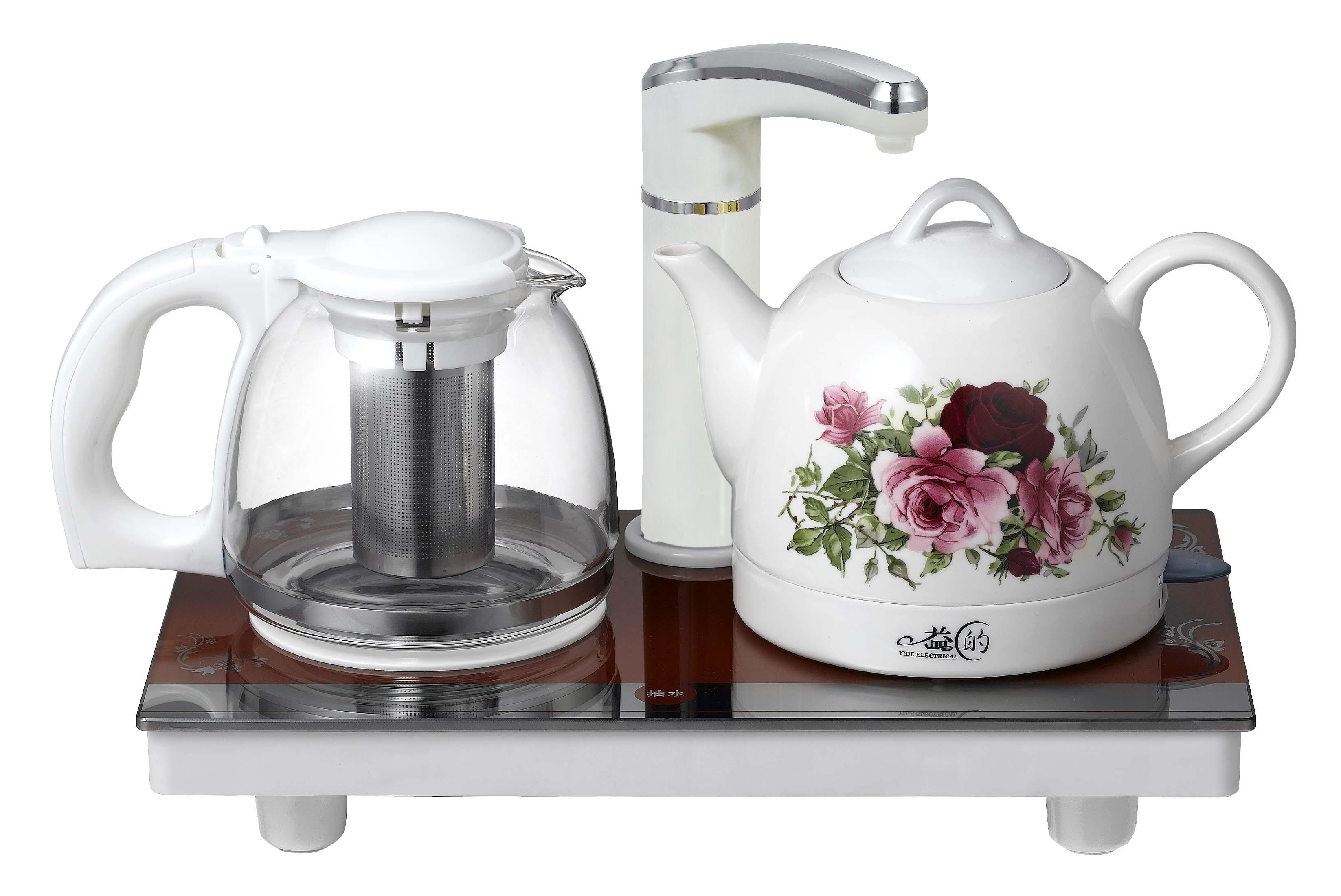 Yd-cs107 water pumping set automatic electric heating kettle ceramic set water pumping ceramic tea set(China (Mainland))