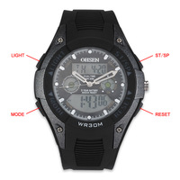 Free shipping for Aosheng ohsen fashion popular sports watches double movement waterproof sheet zone alarm clock gift table