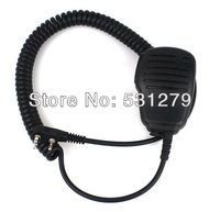 4pcs/lot 2 Pin Adjustable Volume Handheld Microphone for QUANSHENG WOUXUN TYT BAOFENG UV5R 888S KENWOOD Radio accessories J0357A