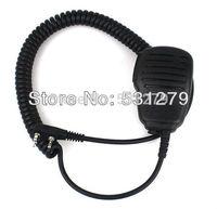 4pcs/lot 2 Pin Adjustable Volume Handheld Microphone for QUANSHENG WOUXUN TYT BAOFENG UV5R 888S KENWOOD Radio accessories J0357A