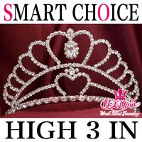 wholesale pageant  bridal rhinestone  wedding tiara crown hairwear   wmc2s