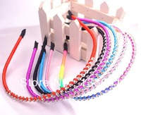 Hair AccessorieS Sweet Contracted Single Drill Collar 6 Piece A Lot Girls Use Free Shipping Fashion Headwear  2013 Fashion Style