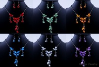 6Colors Crystal Special Sets Free Shipping Vogue Design Handmade Classic Vintage Party Gift Jewelry Necklace Earrings Enamel Set