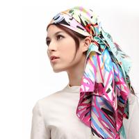 Pteroic gem silk large facecloth spring scarf bandanas mulberry silk scarf