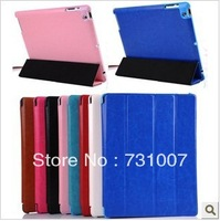 Stand Magnetic Foldable Crazy Horse Pattern PU Leather Flip Cover Case For Apple iPad 2 For iPad 3 For iPad 4