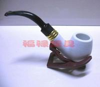 Domestic meerschaum smoking pipe white curved handle smoking pipe smoking set 5