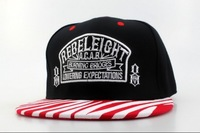 snapbacks hats,high quality and free shipping! zebra-stripe  red black rebeleight snapbacks hat MIX order sell snapbacks SN5962