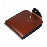 Free shipping man's wallet Genuine leather purse retail or wholesale