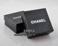 Free Shipping 8*8*3.5cm 12pcs/lot brand black kraft Paper Ring Box earring box  pendant box jewelry gift packaging box