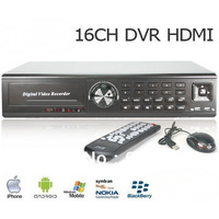 Free Shipping:CCTV DVR 16CH H.264 Audio 8CH HDMI Port Surveillance CIF Realtime Network Standalone DVR Support Mobile Phone View