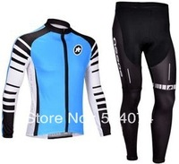 2013 NEW!!! Assos #2 team Winter long sleeve cycling jersey+pants bike bicycle thermal fleeced wear set+Plush fabric!