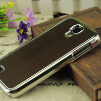 2013 New Chromed Brushed Metal Aluminum Hard Case Cover For Samsung Galaxy S4 SIV i9500 Wholesale Free Shipping DHL 500pcs/lot