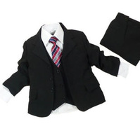 Quality suit male child formal dress 4 child suit costume compound fabric blazer