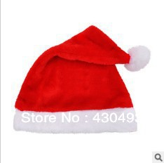 Christmas dress Christmas Santa Claus hat plush cloth Christmas hat factory direct sales