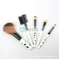 10set/Lot 5Pcs Cute Professional Makeup Brush Set Cosmetic Brushe Tool Powder Eyebrow Spots Free shipping