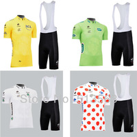 Hot sale!new model 2013 Tour de France 100 Edtion Polka dot cycling jersey bib shorts bicycle jersey cycling clothing/wear