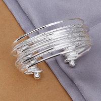 Lose Money! Wholesale 925 silver bangle bracelet, 925 silver fashion jewelry, Sandy light bracelet bangle