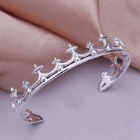 Lose Money! Wholesale 925 silver bangle bracelet, 925 silver fashion jewelry, Crown bracelet bangle B177