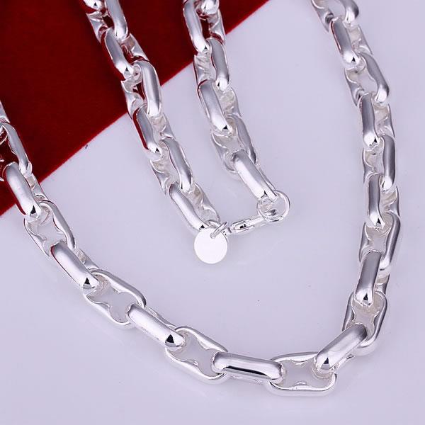 N098 Free Shipping 925 Silver fashion jewelry Necklace pendants Chains, 925 silver necklace Stud Necklace mtzt kvqf(China (Mainland))