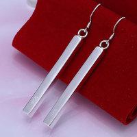 E002 925 silver earrings 925 sterling silver fashion jewelry earrings beautiful earrings high quality Stripe Earrings