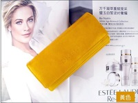 FREE SHIPPING high quality Zipper Leather Purse ladies clutch wallet pouch/clutch for women 6 colors
