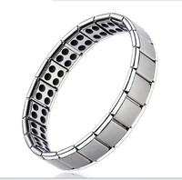 Free shipping Nano Energy Magnetic ,Titanium, Germanium Bracelet five sizes: XS, S, M, L, XL