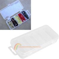 R1B1 Transparent Plastic Fishing Lure Bait Box Storage Organizer Polypropylene Container Case