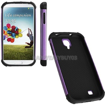 H3#R Unique Hard Cellphone Case Back Cover for Samsung I9500 S4 Purple