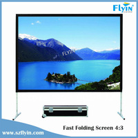 """300"""" fast fold screen with front and rear fabric,aluminum alloy flight case for Outdoor Drive-in Cinema,Line Dancing ,Concert ,"""
