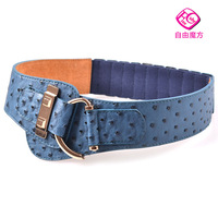 Freeshipping Magic cube cowhide cummerbund female fashion all-match elastic wide belt waist decoration ZYMF