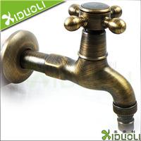 Bathroom fashion antique copper single cold lengthen washing machine mop pool faucet