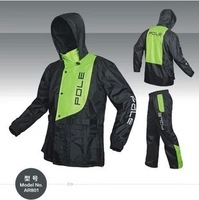 Free Shipping Fashion Outdoor Sports Fishing Man & Woman Waterproof Fission Raincoat Suit Motorcycle Raincoat POLE AR801