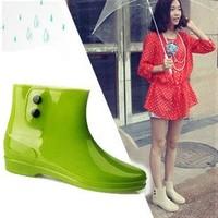 2013 women's knee-high low boots waterproof popper rain boots water shoes boots rain shoes