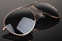 New style with box packing fashion gold fram sunglasses
