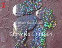 2000pcs 15mm round Shape Hologram Sequins Hole For Wedding shoes Fascinator Craft