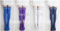 Free Shipping 2014 Women Stocking  Black Tattoo Cat Patchwork Stockings Velvet Tattoo Stocking Tight Pantyhose One piece
