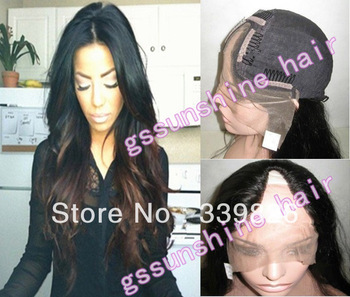 New fashion 20inch #1B/4 loose wave 100% virgin peruvian human hair u part wigs for sale Free Shipping