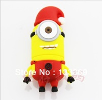 Wholesales!New Cartoon Fashion Gift Minions USB 2.0 memory flash stick /disk/card Christmas styles Minion 2GB disk(one eye)