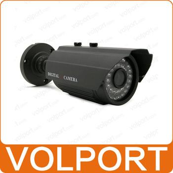 "Free Shipping Outdoor Security Surveillance HD 1/3"" Sony Effio CCD 700TVL OSD Menu IR 30m Waterproof Camera with Bracket"
