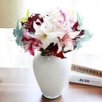 Fashion quality 2 lily artificial flower silk flower artificial flower decoration flower