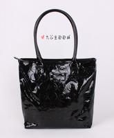 2013 fashion female bag black patent leather bag shoulder bag handbag