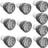 Free shipping 10pcs X 5W GU10 Warm White Spot LED Light Lamp Bulb Energy Saving 85-265V