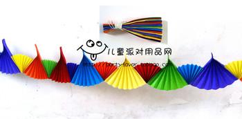 Child multicolour garland paper fan garland colorful paper fan
