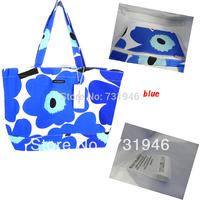 Free shipping Unikkobag Marimekko 2014 Handbag  marimekko canvas   bag blue