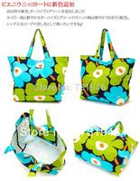 Free shipping Unikkobag Marimekko 2014Handbag  marimekko canvas   bag  green  whloesale