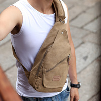 Brief man bag chest pack casual canvas bag bag male ride