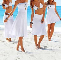 New fashion beach dress 2013 fashion bikini outside shirt tie skirt beach one-piece dress free shipping