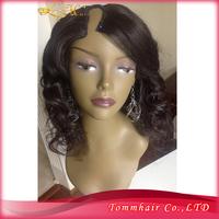 Free shipping popular Peruvian human hair lace front U- shaped Wig,Super cheap U shape Wig wave 130% density